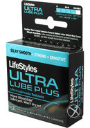 Lifestyles Ultra Lubricated Plus 3`s
