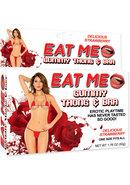 Eat Me Gummy Thong And Bra Strawberry
